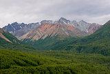 Lush Landscape Alaskan Mountain Range
