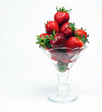 Berries Parfait Fresh Strawberries Food Fruit in Glass