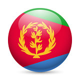 Round glossy icon of Eritrea