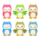 Cartoon Owls