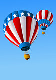Hot Air Balloons of 4 of July Background