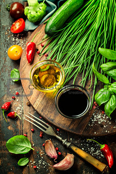 Organic Vegetables and spices