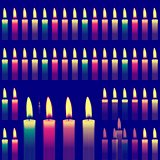 Decorative background with a candles