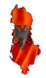 Albanian flag map