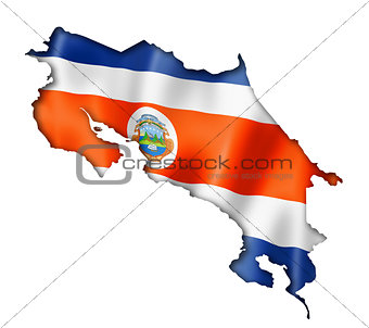Costa Rican flag map