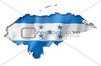 Honduras flag map