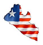 Liberian flag map