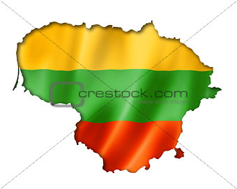 Lithuanian flag map