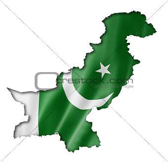 Pakistani flag map