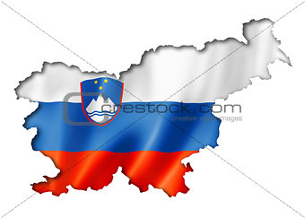 Slovenian flag map