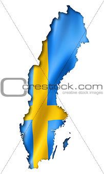 Swedish flag map
