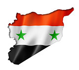 Syrian flag map