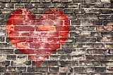 heart on the old wall