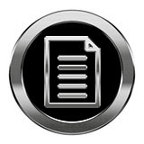 Document icon silver, isolated on white background