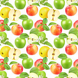 Seamless pattern of apples