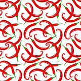 Seamless pattern of red peppers