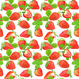 Seamless pattern of strawberry