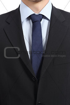 Close up of a businessman suit and necktie