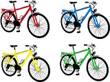 bike in different color - vector