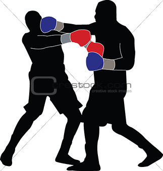 boxing match - vector