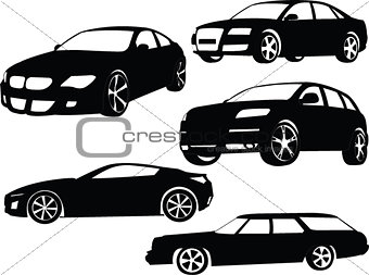 car collection - vector