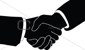 business handshake - vector