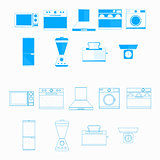 Icons for household equipment
