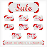Illustration of sale offers