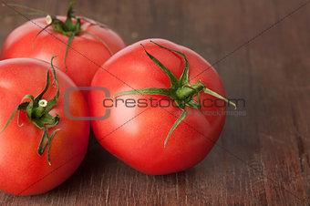 Tomatoes on wood