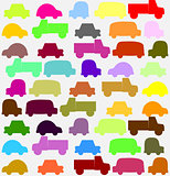 seamless pattern with colorful little cars art