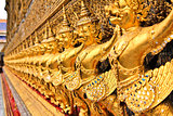 The Garuda at the Emerald Buddha Temple in Bangkok, Thailand.