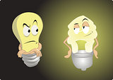 old light bulb vs energy saving