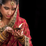 Celebrating diwali festive of lights