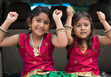 Indian girls sitting in car