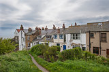 Terraced houses on english rural coastline