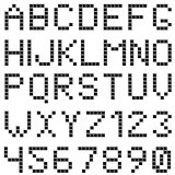 Square box styled font set