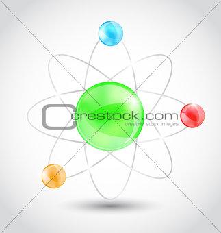 Atom symbol isolated on white background