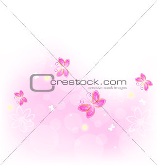 Abstract nature background with butterfly for design celebration