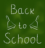 Back to school background with text and bells