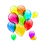 Set colorful balloons on white background for your holiday