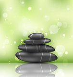 Zen spa background with pyramid stones