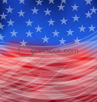 Abstract American Flag for happy 4th of july
