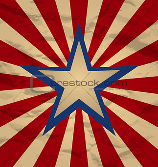Holiday background for Independence Day, retro style