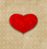 Red grunge heart for Valentine Day