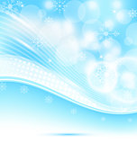Christmas wavy background with snowflakes