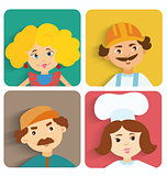Flat design people avatar