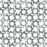 Seamless gears background layered