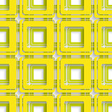Yellow and Green square abstract