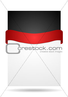 Abstract background with red ribbon
