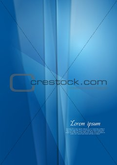 Bright blue vector background